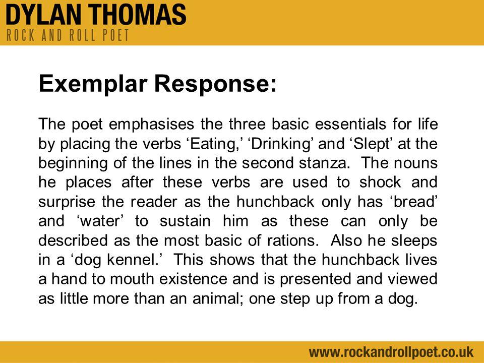 Exemplar Response: