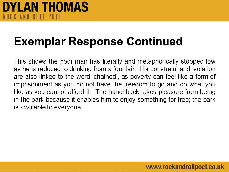 Exemplar Response Continued