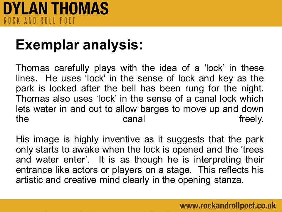 Exemplar analysis:
