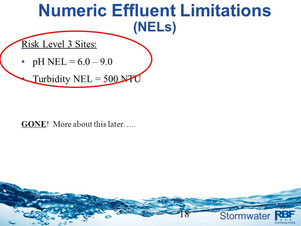 Numeric Effluent Limitations (NELs)