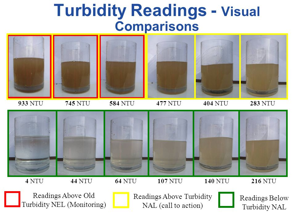 Turbidity Readings - Visual Comparisons
