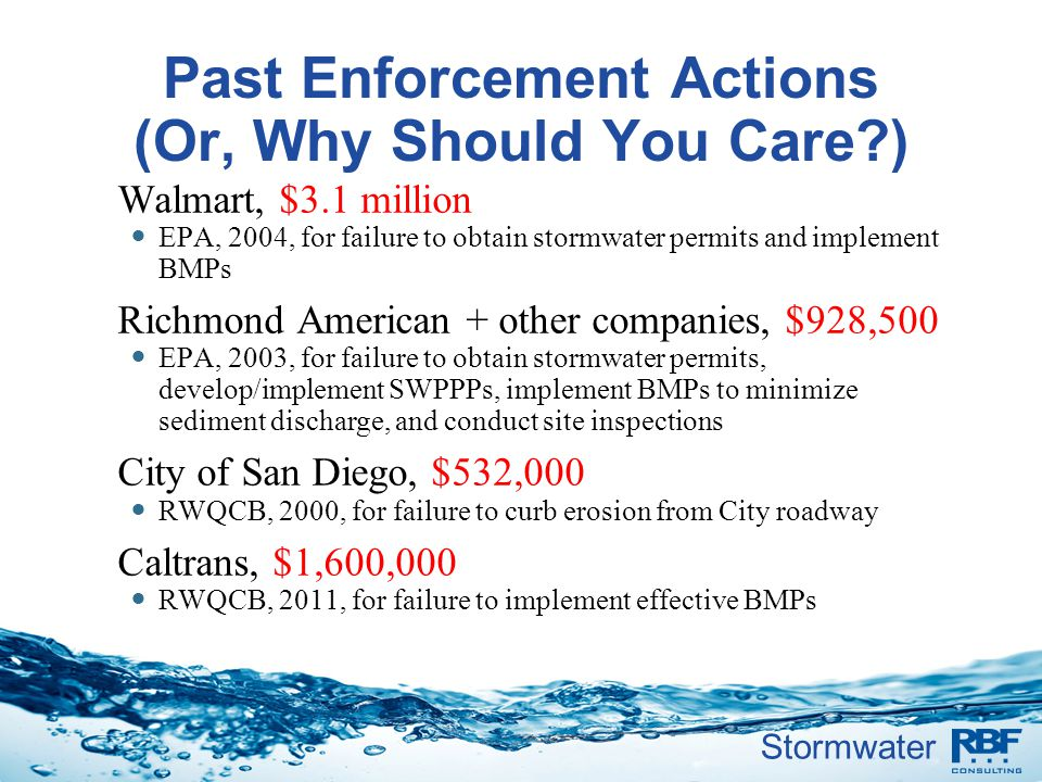Past Enforcement Actions (Or, Why Should You Care )