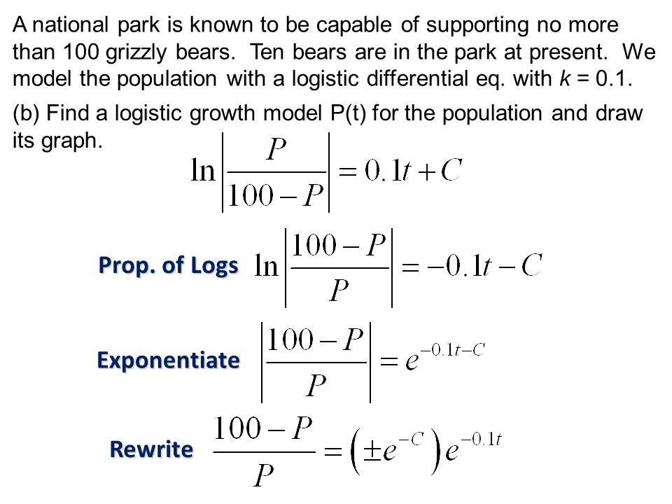 Prop. of Logs Exponentiate Rewrite
