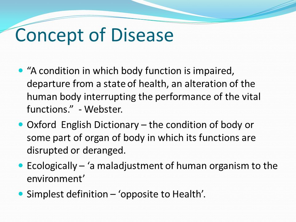 Concept of Disease