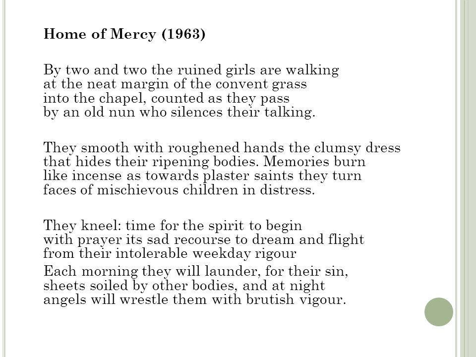 Home of Mercy (1963)