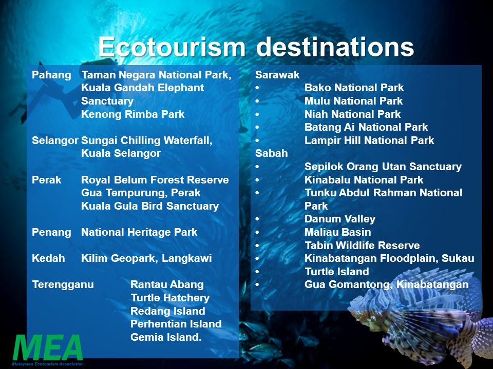Ecotourism destinations