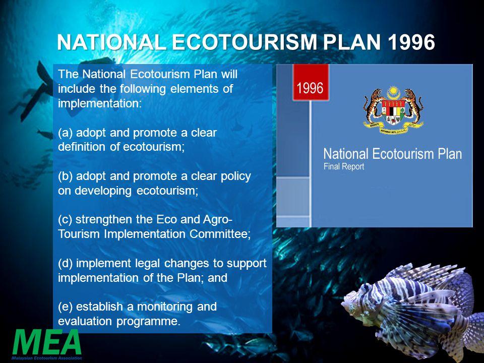 NATIONAL ECOTOURISM PLAN 1996
