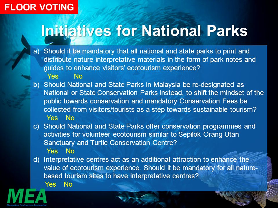 Initiatives for National Parks