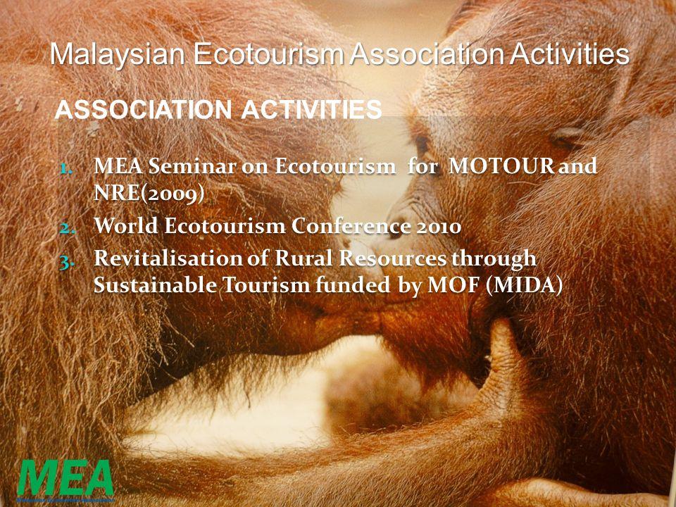 Malaysian Ecotourism Association Activities