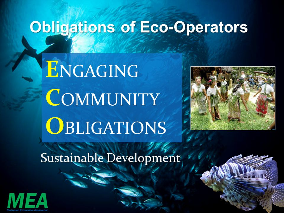 ENGAGING COMMUNITY OBLIGATIONS Obligations of Eco-Operators