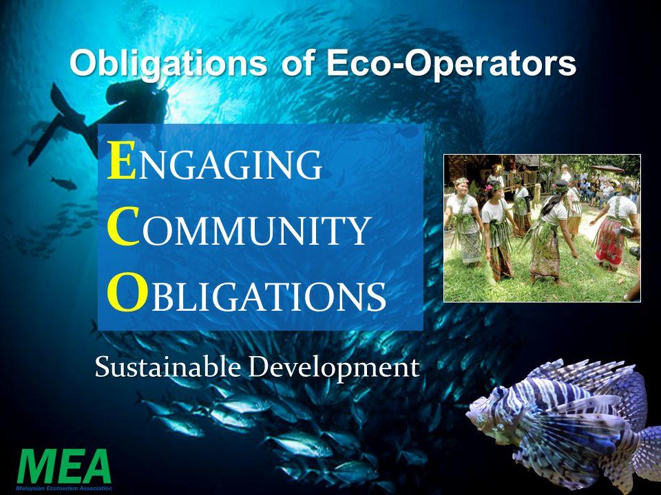 ENGAGING COMMUNITY OBLIGATIONS Obligations of Eco-Operators