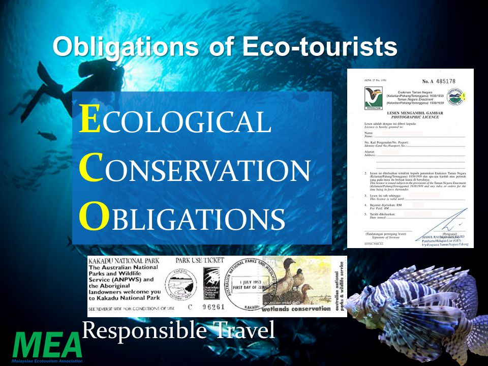 Obligations of Eco-tourists