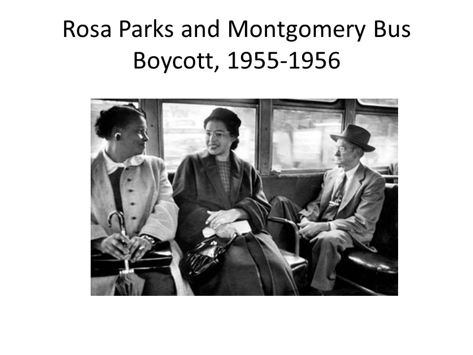 Rosa Parks and Montgomery Bus Boycott, 1955-1956