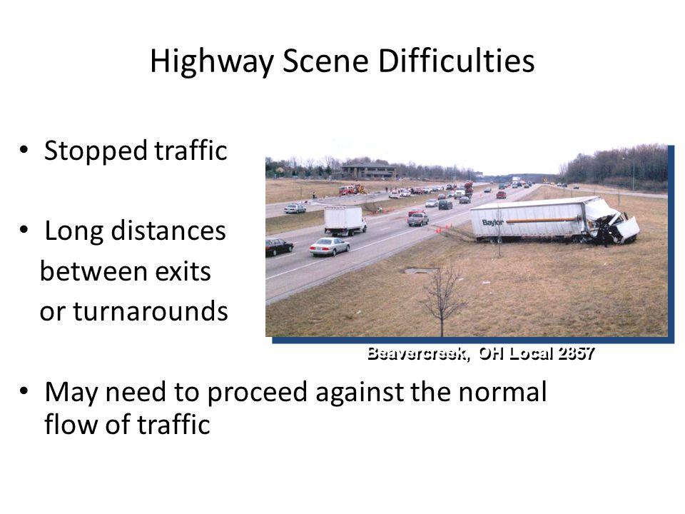 Highway Scene Difficulties