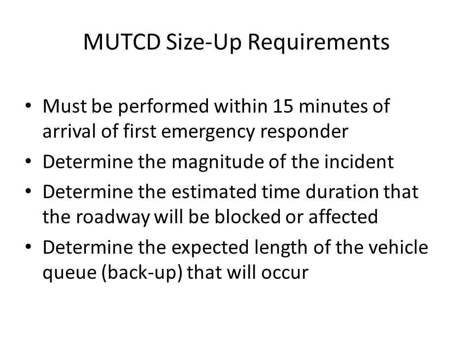 MUTCD Size-Up Requirements