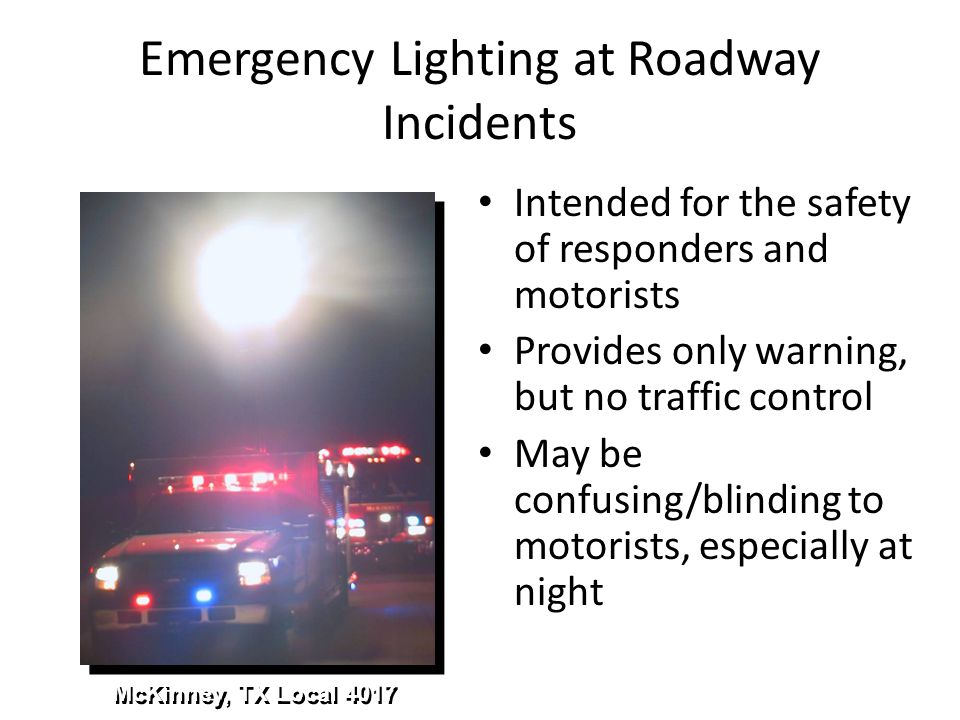 Emergency Lighting at Roadway Incidents