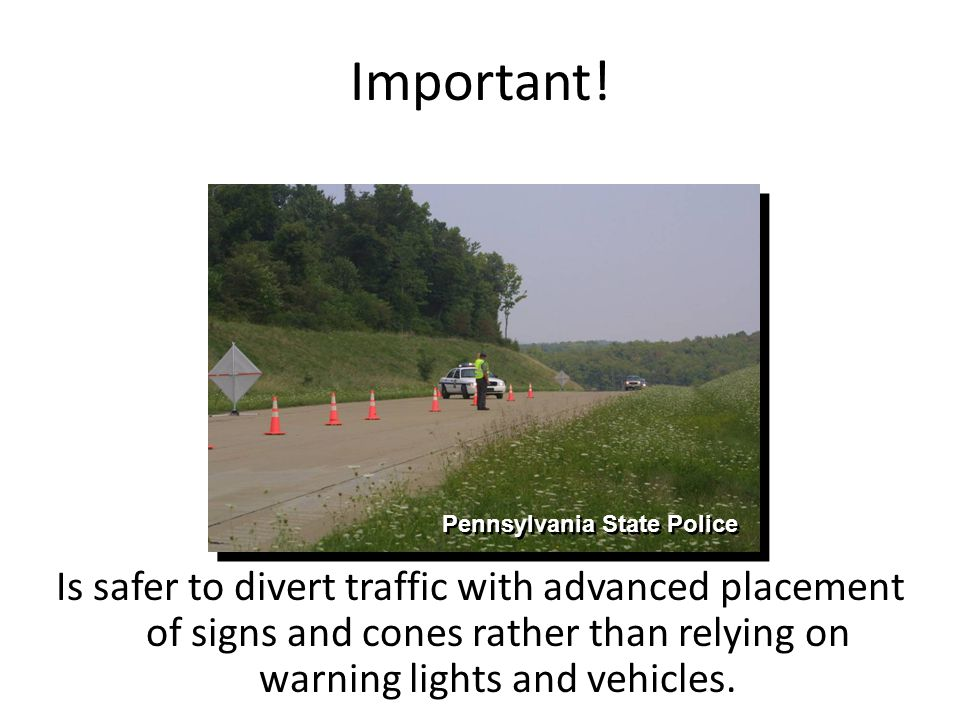 Important! Pennsylvania State Police.