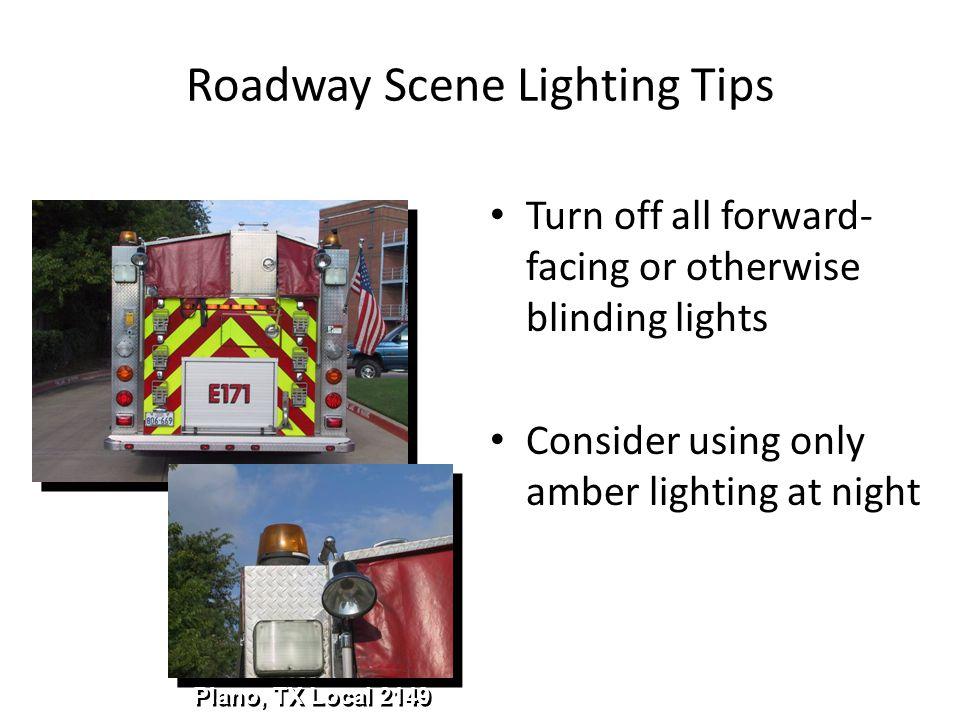 Roadway Scene Lighting Tips