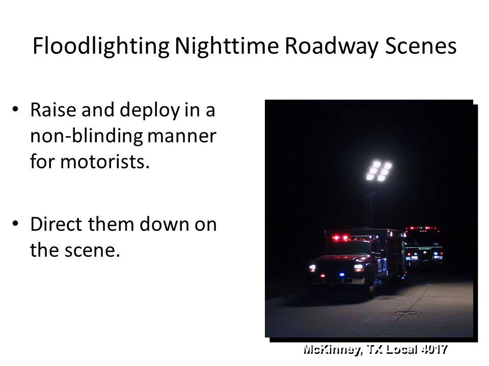 Floodlighting Nighttime Roadway Scenes