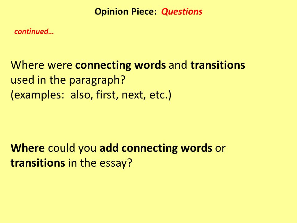 connecting words essay No words seem to be enough to explain it to you my happiness i had a serious problem about the linking words, but now i can easily use them in my essay.