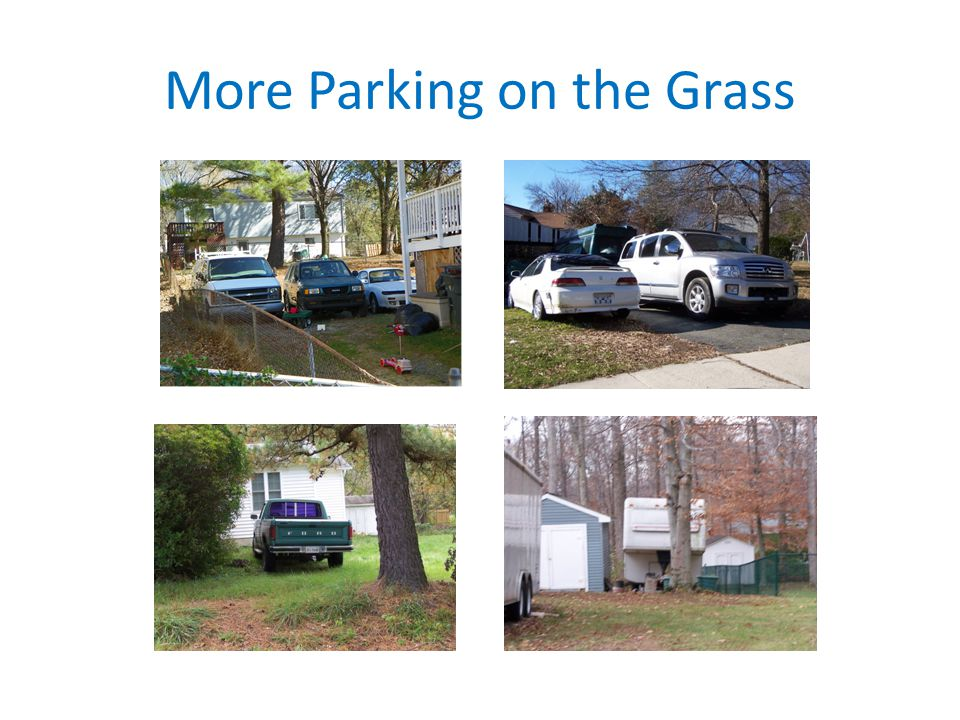 More Parking on the Grass