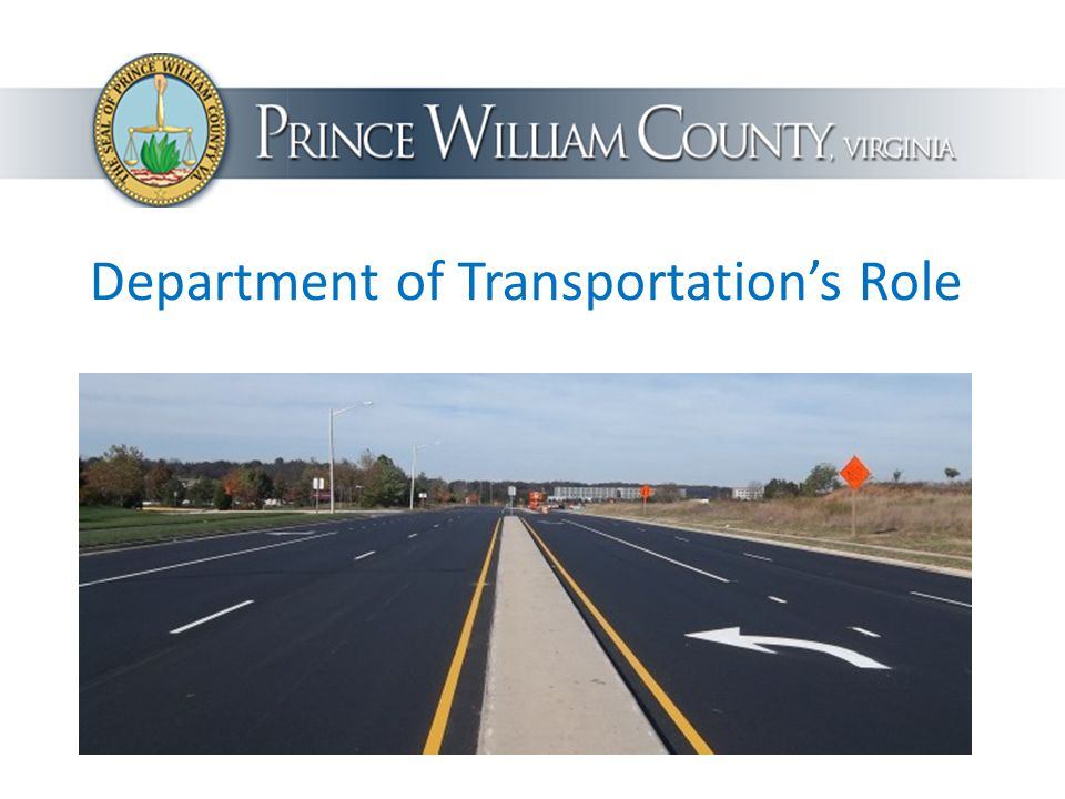 Department of Transportation's Role