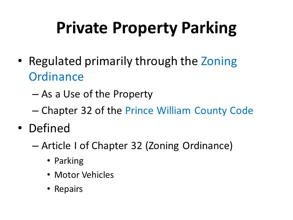 Private Property Parking