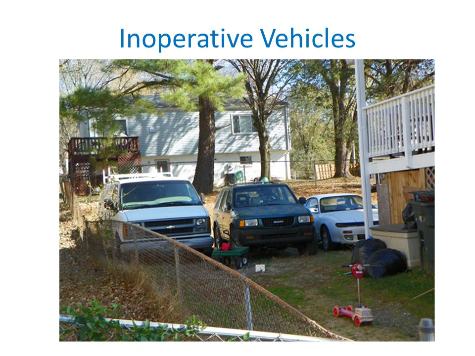 Inoperative Vehicles