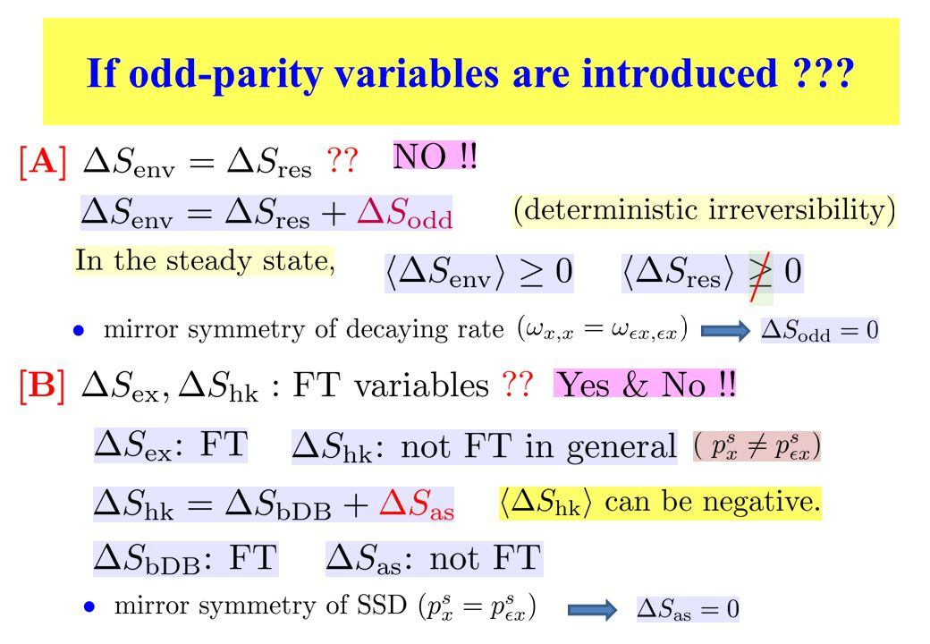 If odd-parity variables are introduced