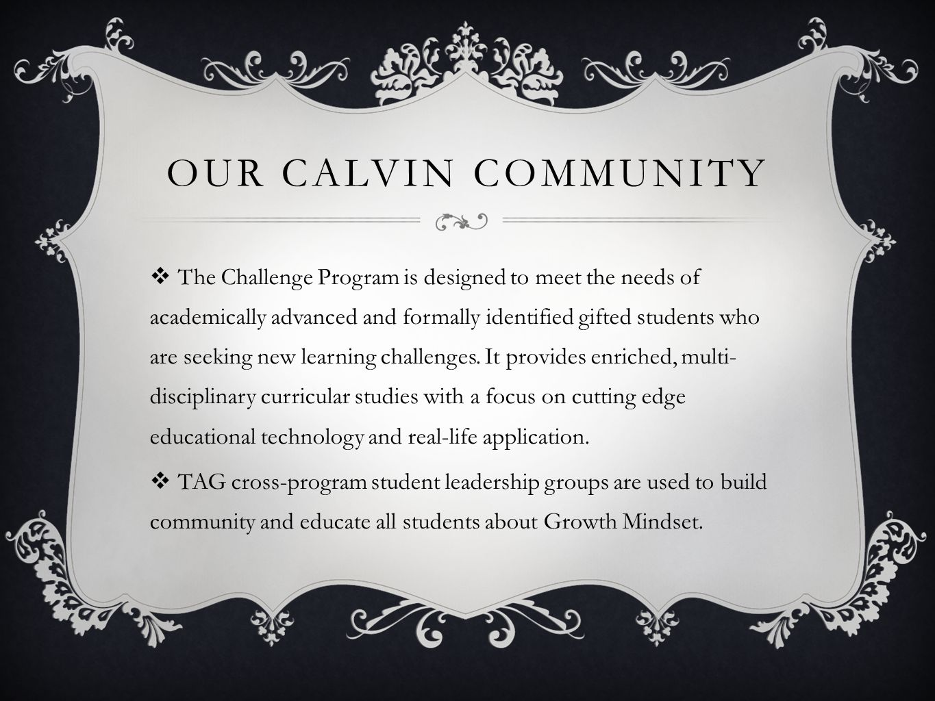 Our Calvin Community