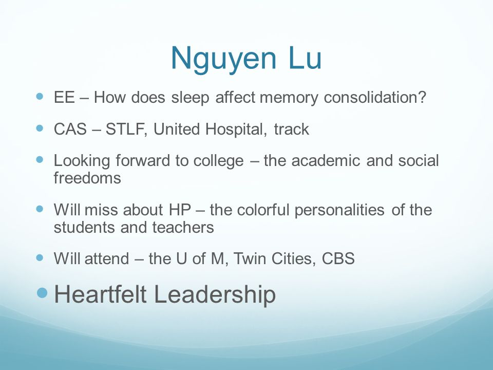 Nguyen Lu Heartfelt Leadership