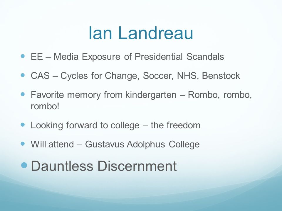 Ian Landreau Dauntless Discernment