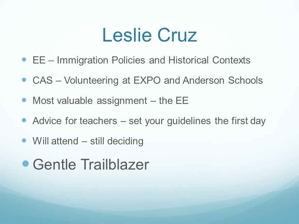 Leslie Cruz Gentle Trailblazer