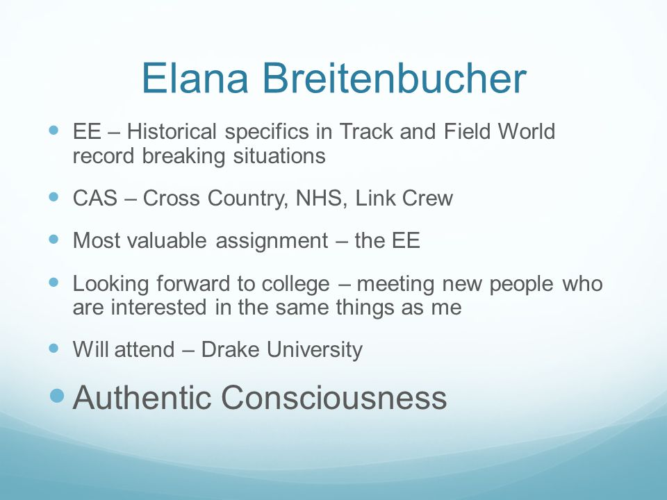 Elana Breitenbucher Authentic Consciousness