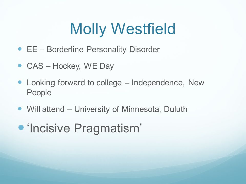 Molly Westfield 'Incisive Pragmatism'