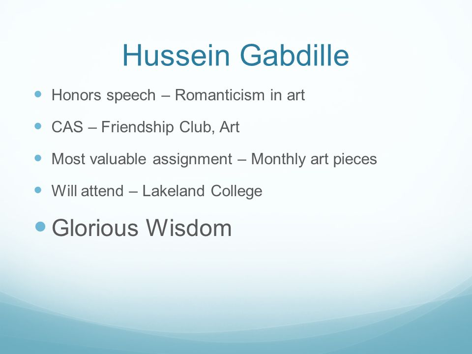 Hussein Gabdille Glorious Wisdom Honors speech – Romanticism in art