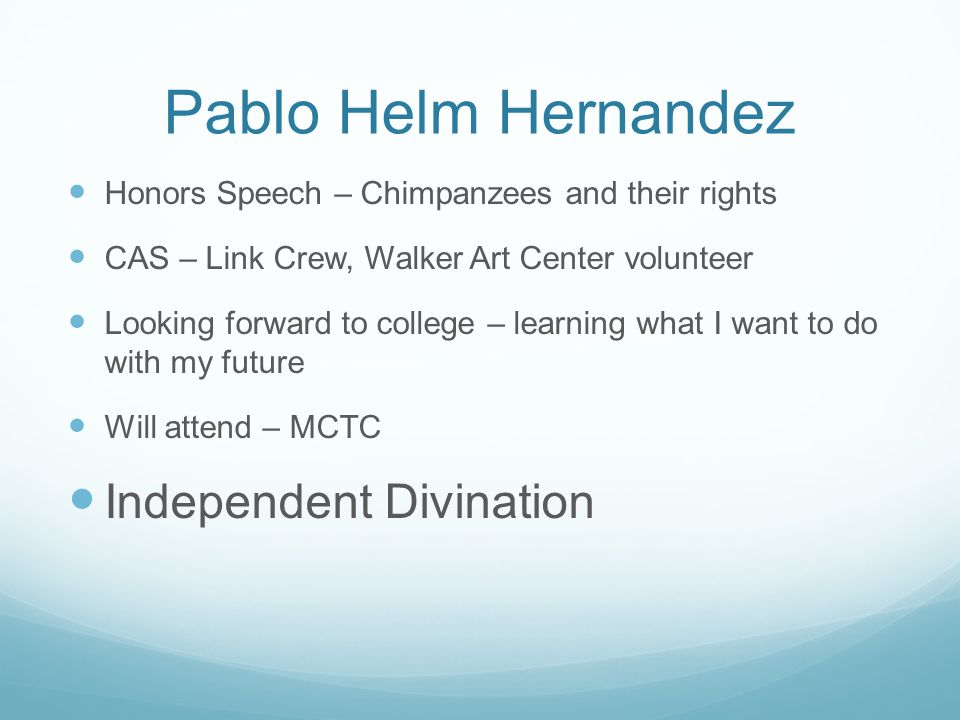 Pablo Helm Hernandez Independent Divination