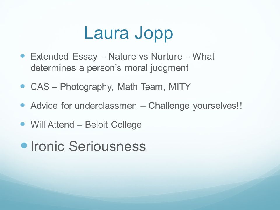 Laura Jopp Ironic Seriousness