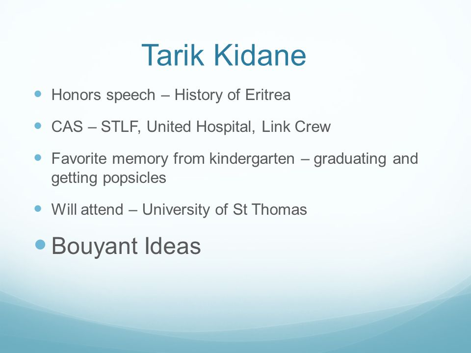 Tarik Kidane Bouyant Ideas Honors speech – History of Eritrea