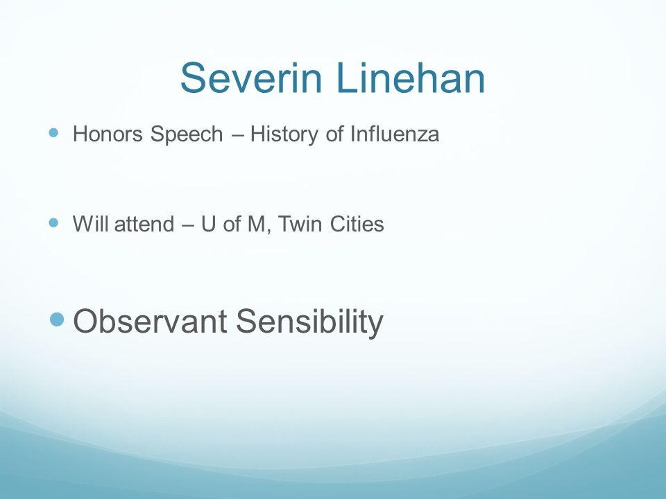 Severin Linehan Observant Sensibility