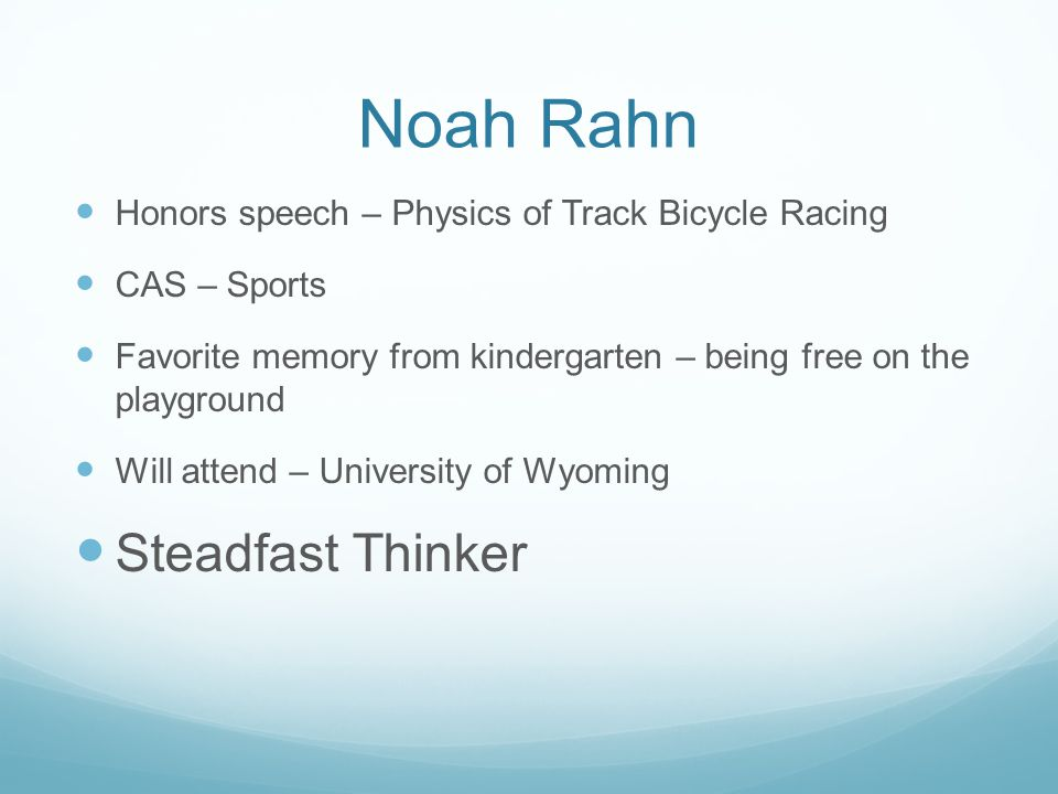 Noah Rahn Steadfast Thinker