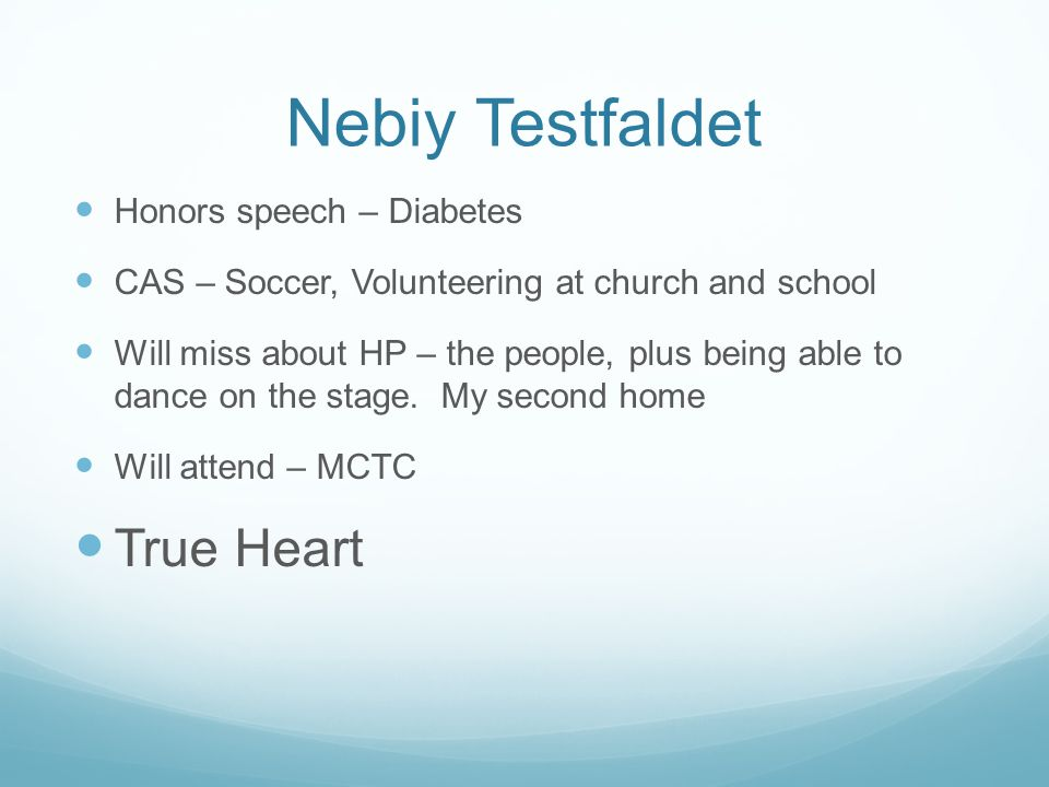 Nebiy Testfaldet True Heart Honors speech – Diabetes