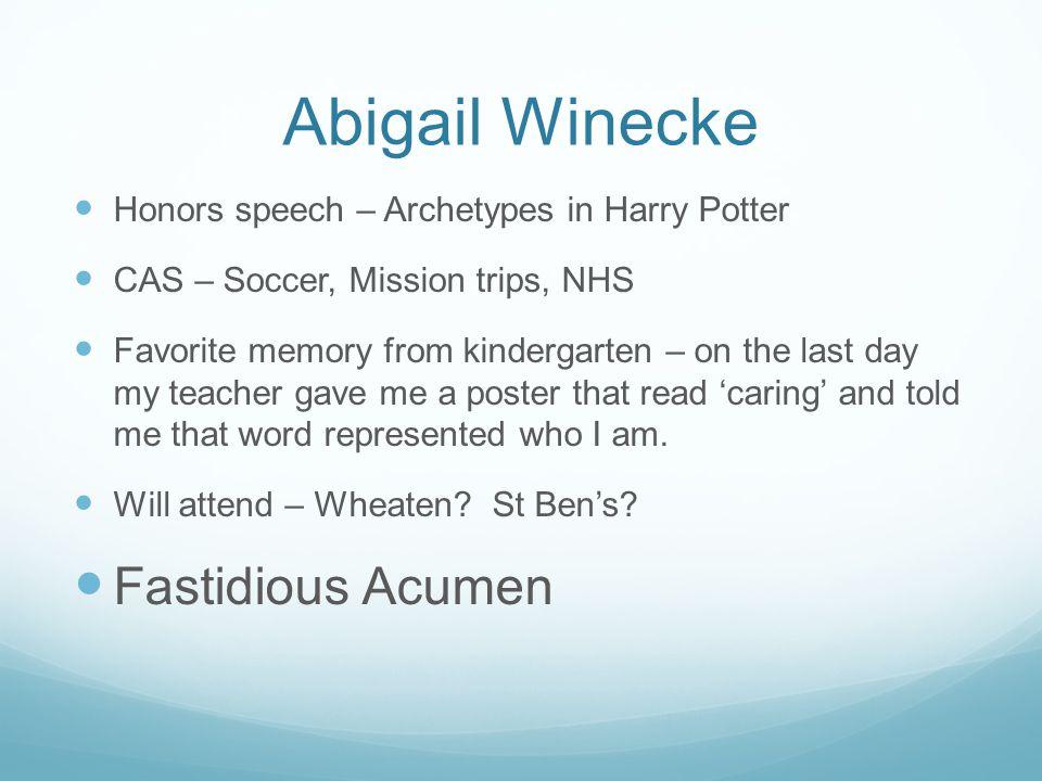 Abigail Winecke Fastidious Acumen