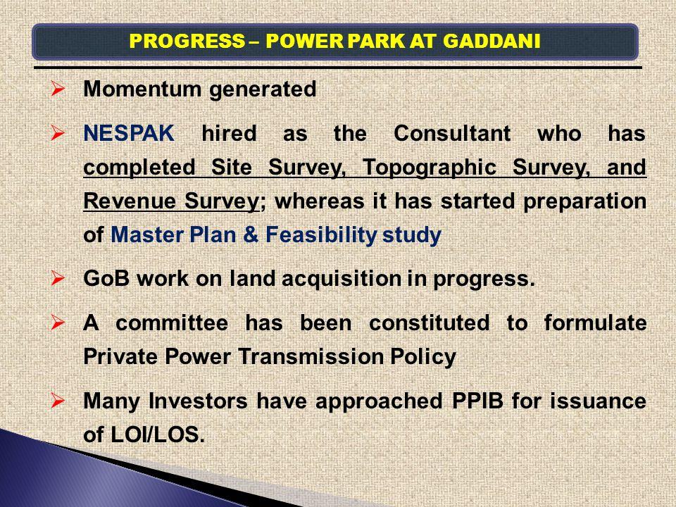 PROGRESS – POWER PARK AT GADDANI