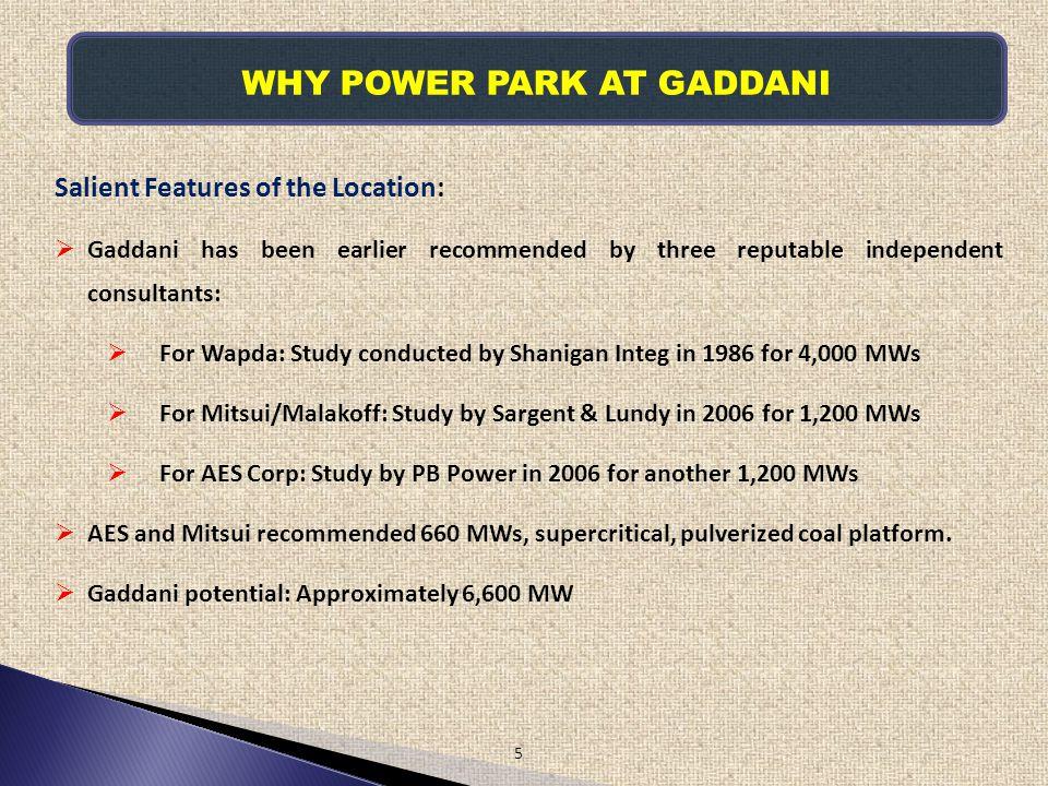 WHY POWER PARK AT GADDANI