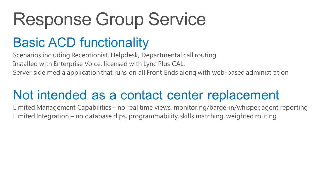 Response Group Service
