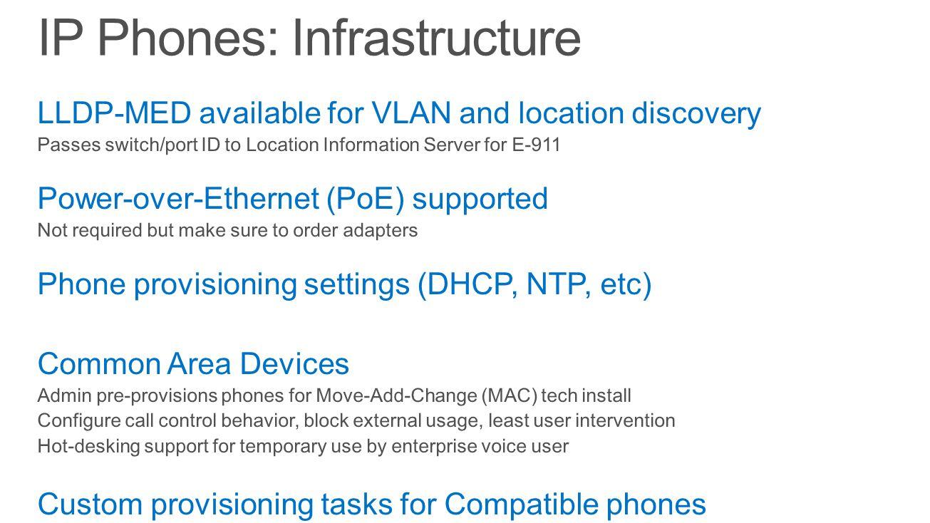 IP Phones: Infrastructure