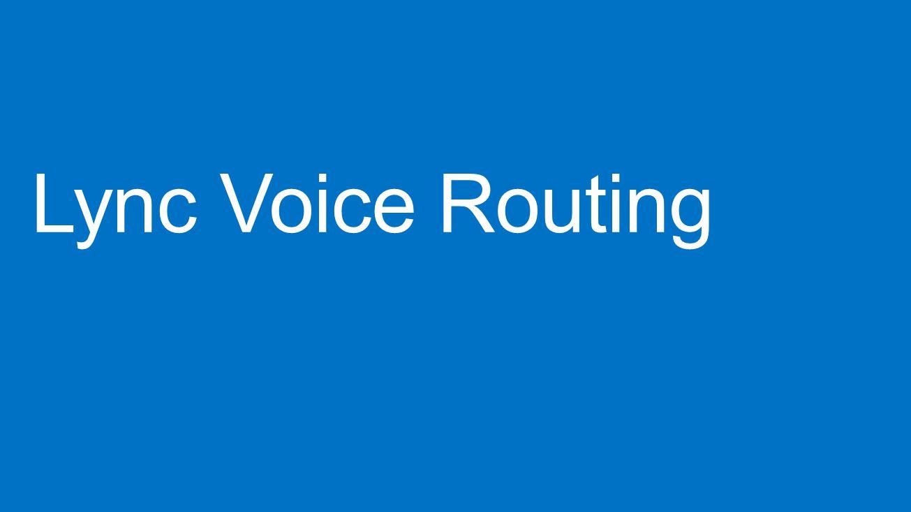 Lync Voice Routing