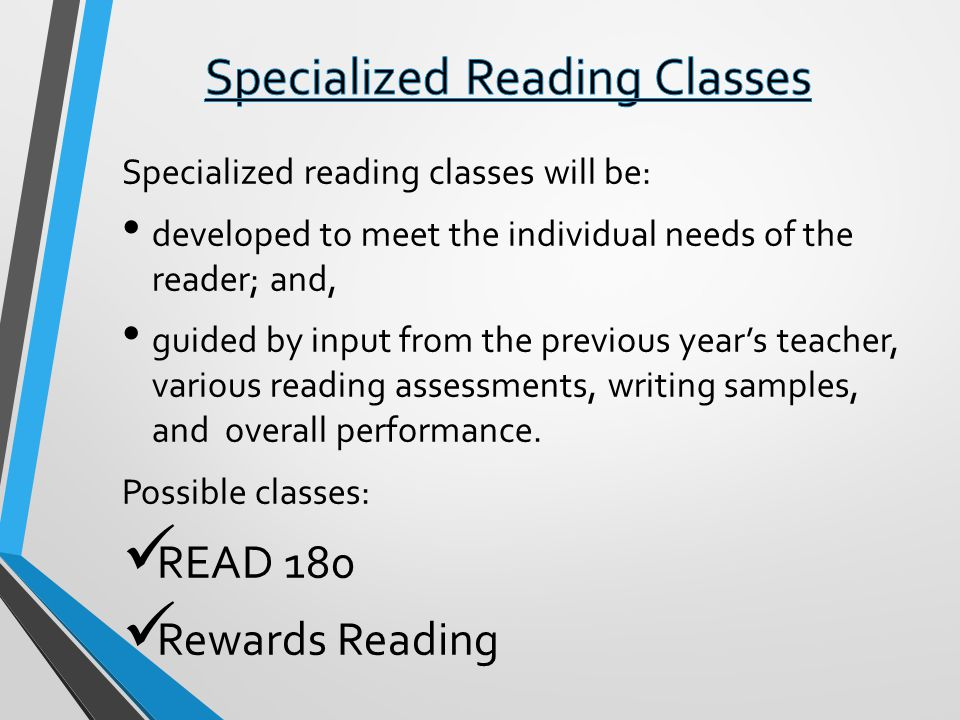 Specialized Reading Classes