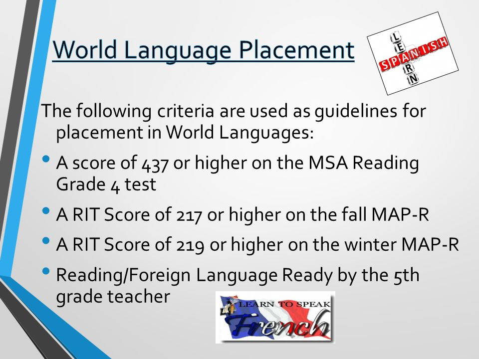 World Language Placement